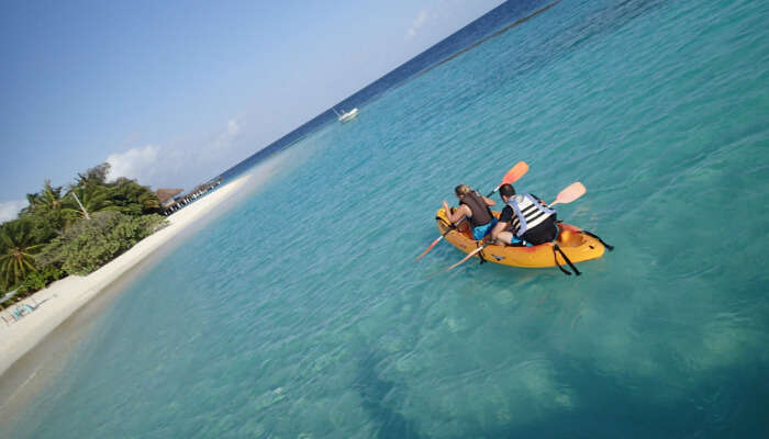 Canoeing in Maldives