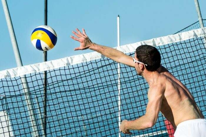 Man playing volley ball