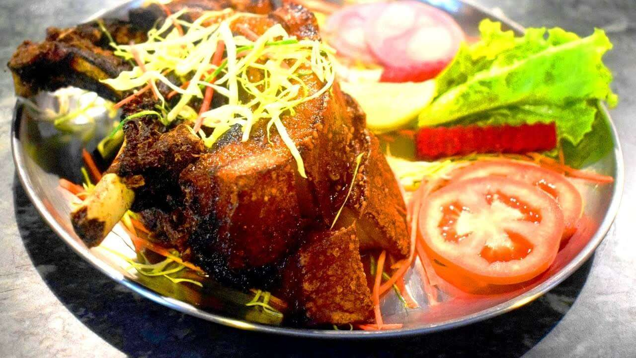 delicious food at dilli haat