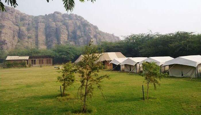 Dhauj is the nearest place to camp around Delhi.