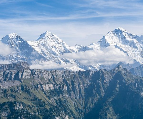 The top peaks of Switzerland