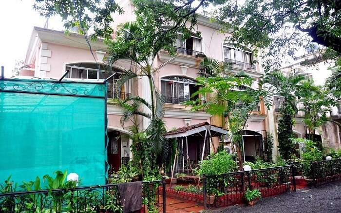 A view of Mount View Row Houses in Lonavala Surrounded by greenery