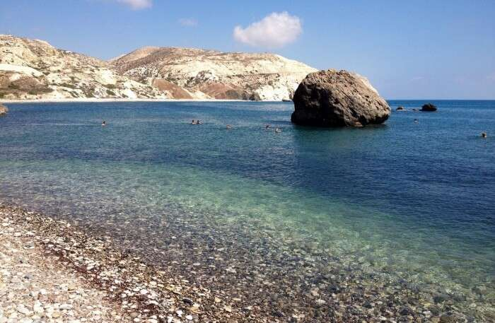 Aphrodite's Rock And Beach