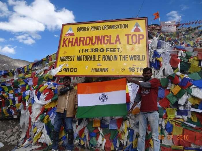 sense of achievement at the highest motorable road