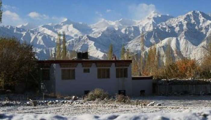 A glorious view of Gangba homestay in Leh
