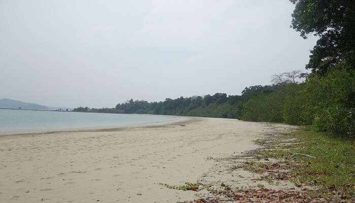 The calm Pathi Level Beach in Diglipur area of Andaman