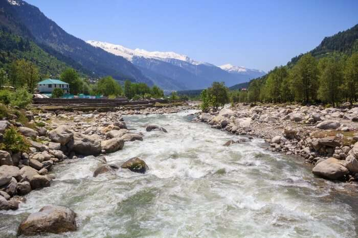 River Beas flowing through the Kullu valley