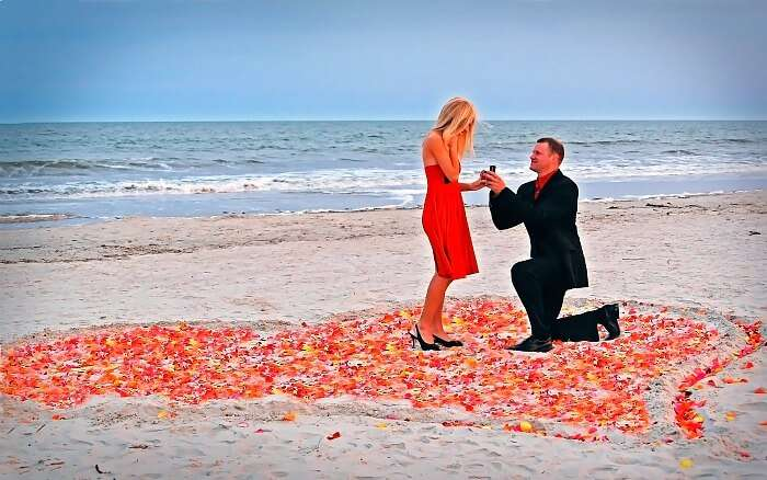 A couple sharing their special moment at one of the most romantic destinations in South Africa