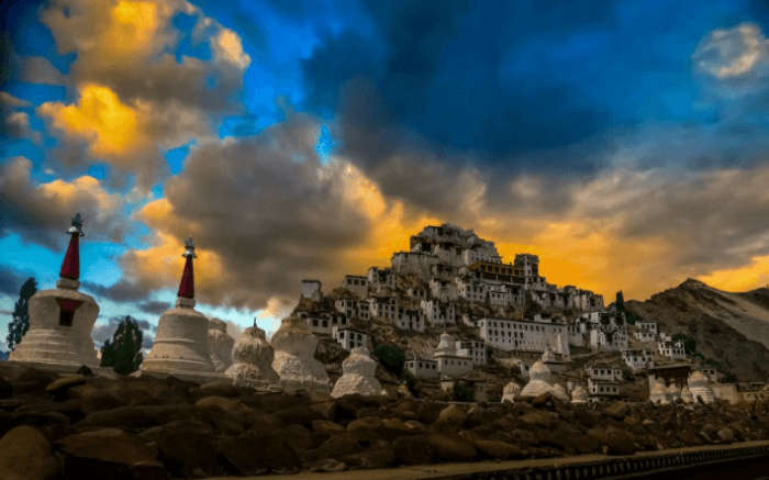 The beautiful Thiksey monastery in Ladakh