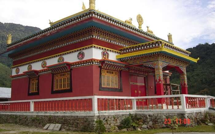 A view of Dubdi Monastery in Sikkim