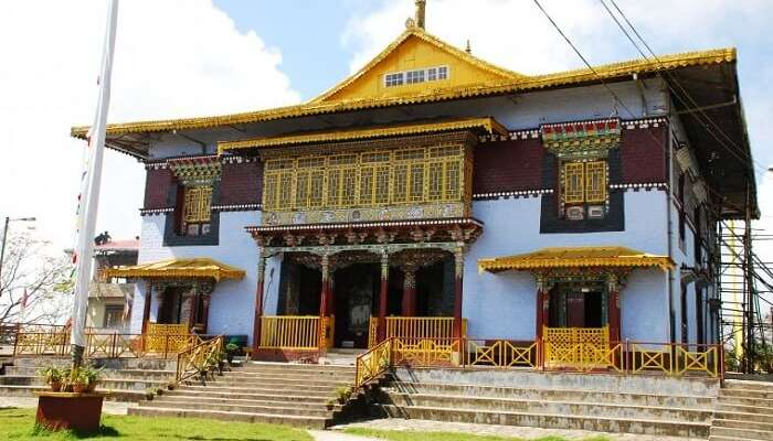 A view of Pemayangtse Monastery in Sikkim