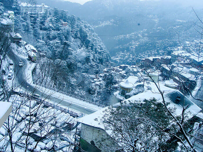 The snow roads from Kalka to Shimla
